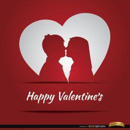 Casal amor coração cartão do dia dos namorados