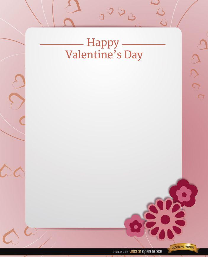 Mensagem de texto do cartão rosa dos namorados