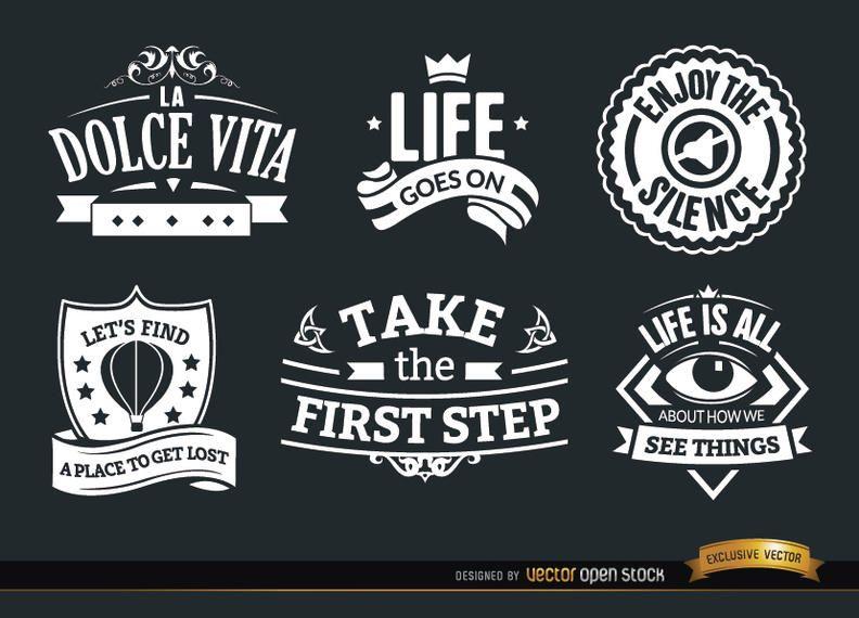 6 insignias de inspiración vintage