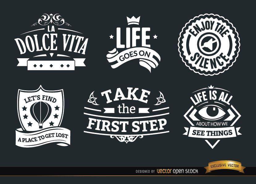 6 Inspirational vintage badges