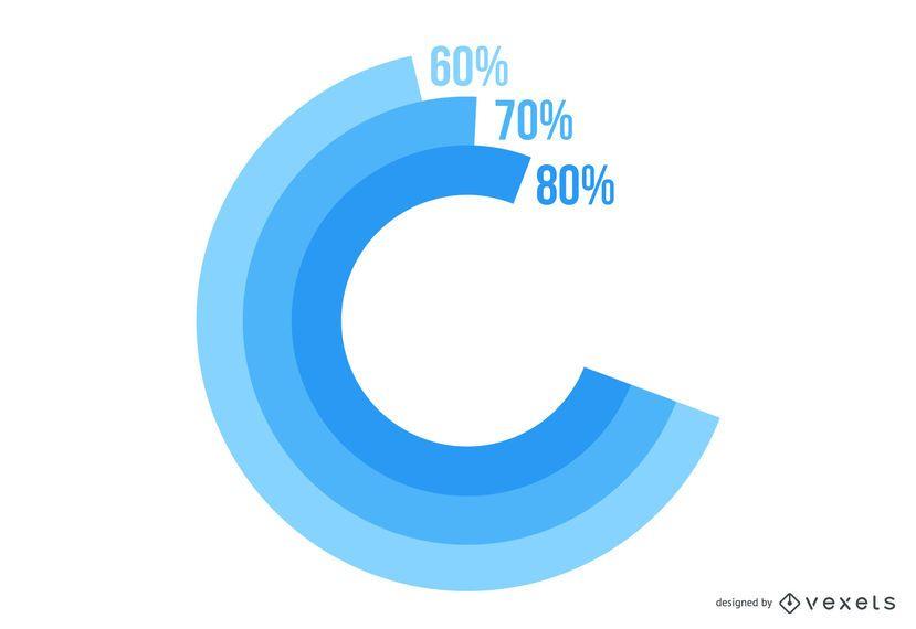 Infografía de negocio redondo espiral abstracto