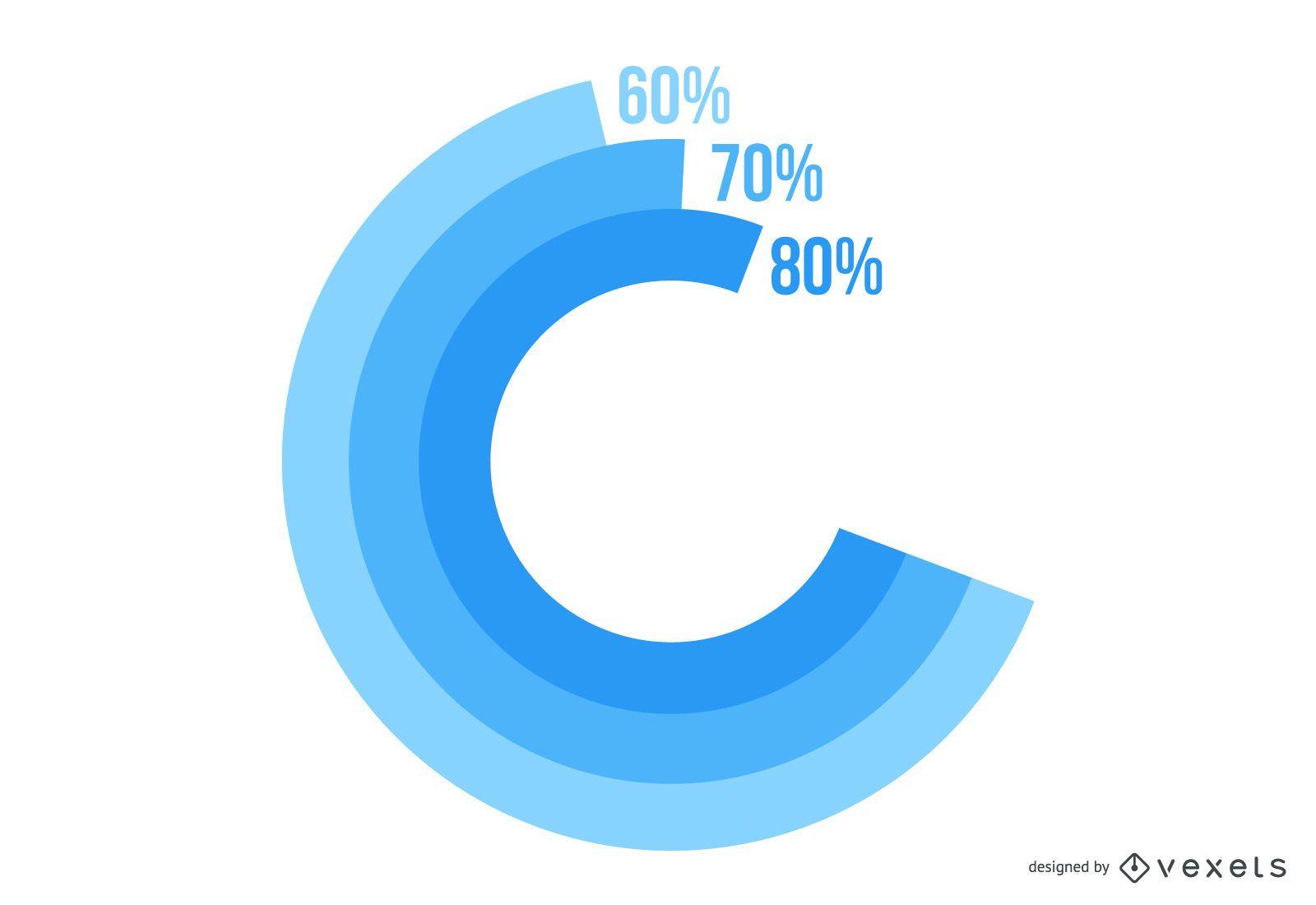 Infográfico de negócios da rodada espiral abstrata