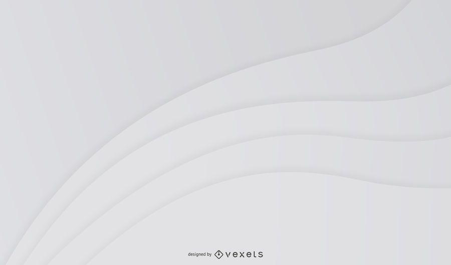 Fondo de ondas curvas abstractas gris