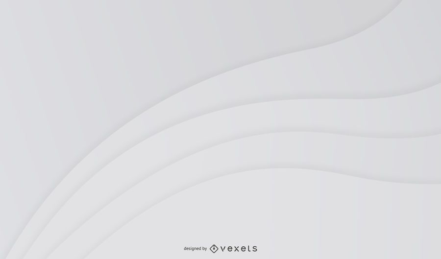 Grey Abstract curvy Waves Background