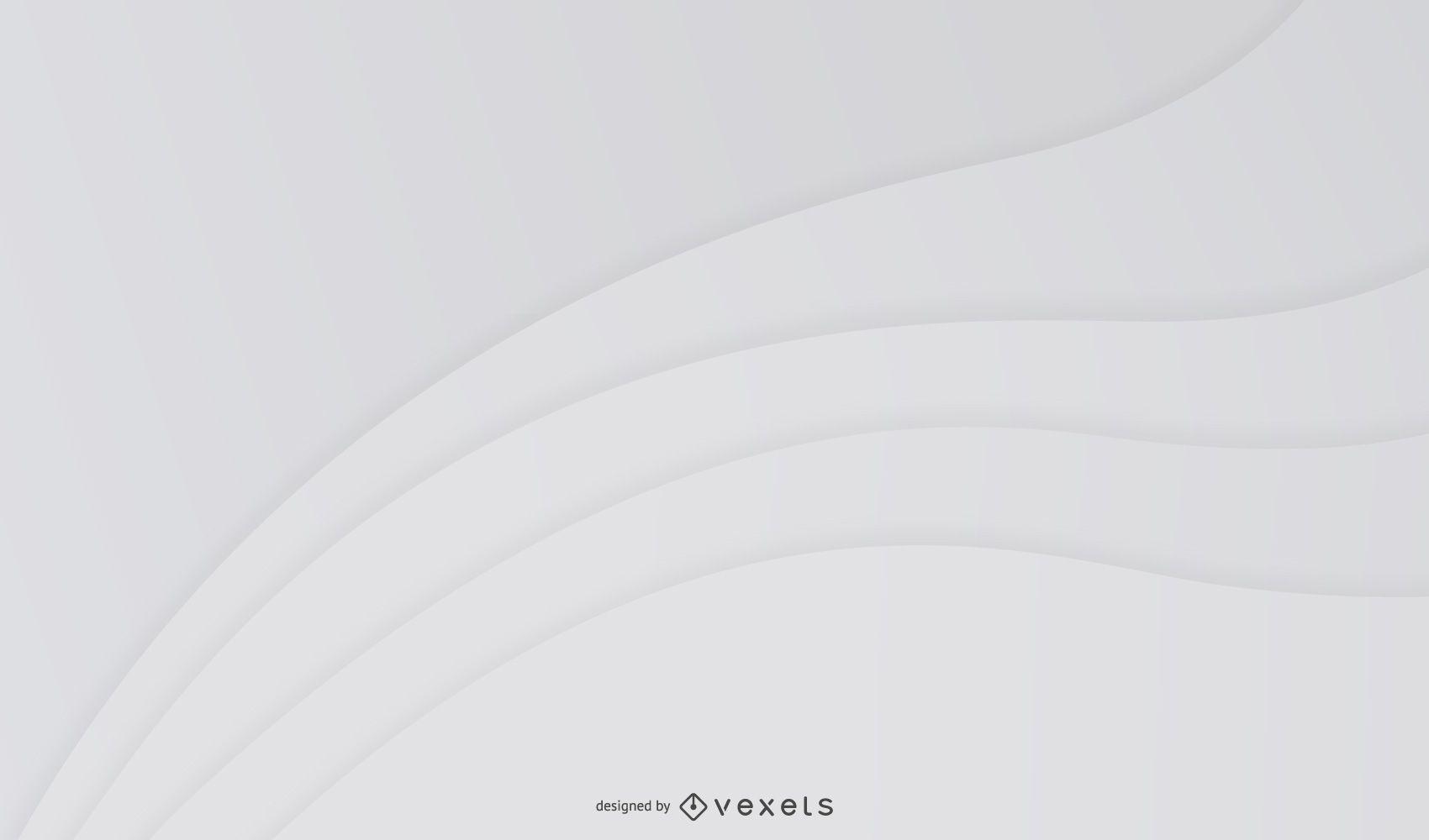 Fondo gris abstracto ondas curvas