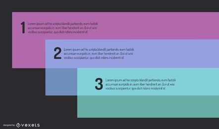 Glossy Fluorescent Minimal Rectangles Infographic