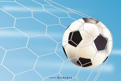 Hermoso cartel de fútbol en el estadio