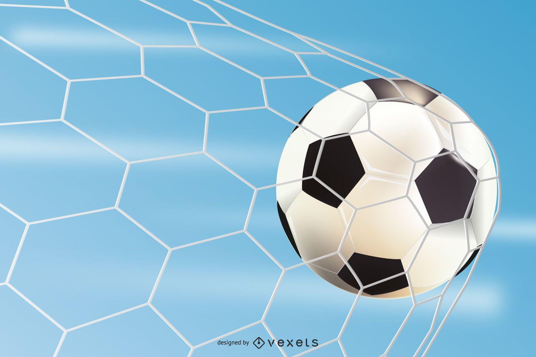 Beautiful Football Poster on Stadium