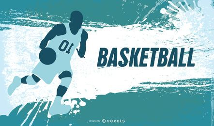 Fondo abstracto de baloncesto grungy