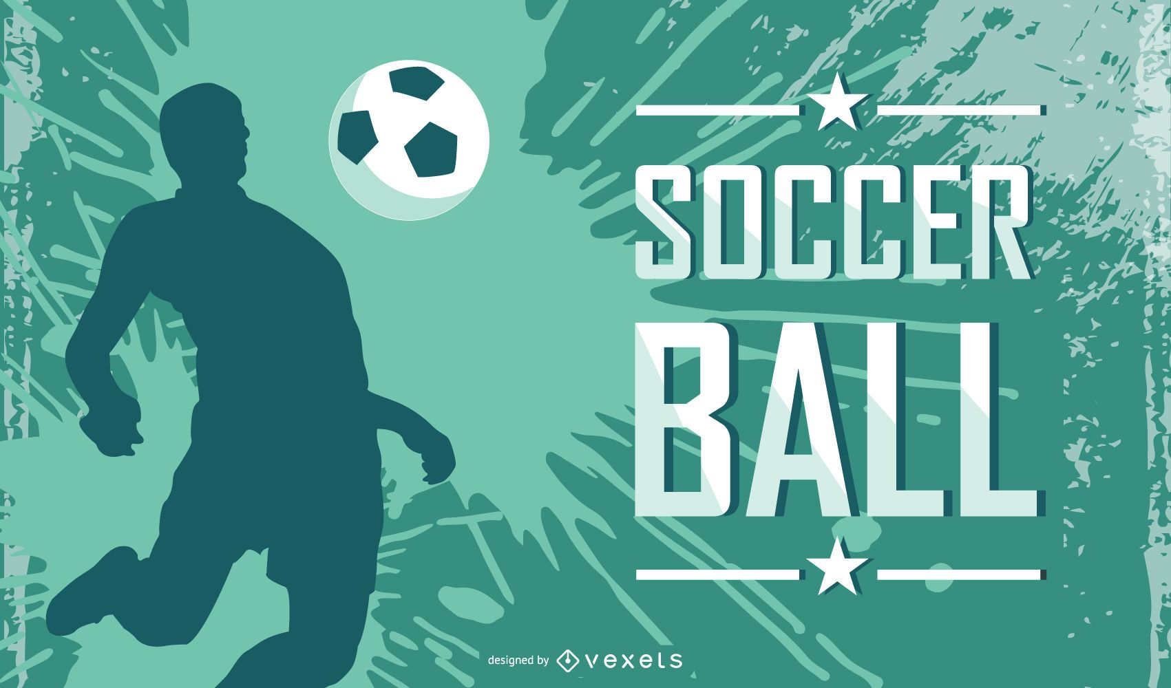 Abstract Grungy Soccer Background