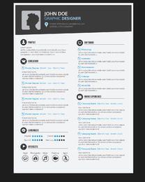 CV de currículum de diseñador gráfico