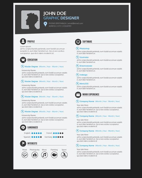 Diseñador gráfico reanudar currículum