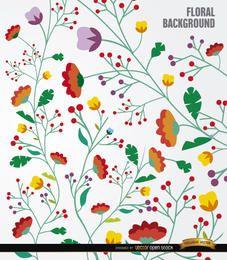 Fondo de tallos largos flores coloridas