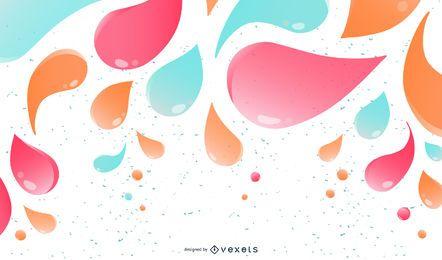 Tendência brilhante colorida de redemoinhos e decoração espirrada