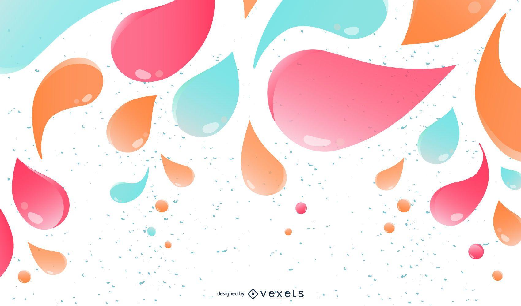 Colorido brillante tendencia de decoración de salpicaduras
