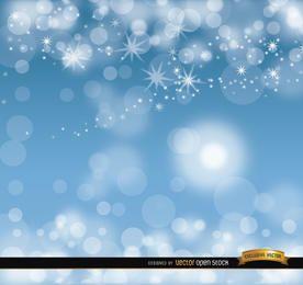 Sky blue glitters background