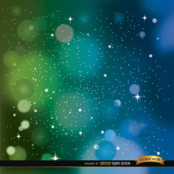 Space blue green background