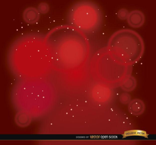 Fondo de estrellas de focos rojos