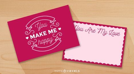 Beautiful Valentine Card Mockup Template