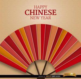 Fondo de ventilador de año nuevo chino