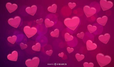 Fundo de Valentine vermelho criativo abstrato rosa