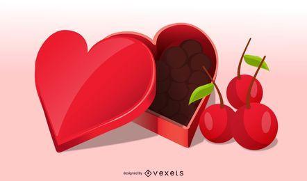 Realista caramelo de San Valentín con alegre