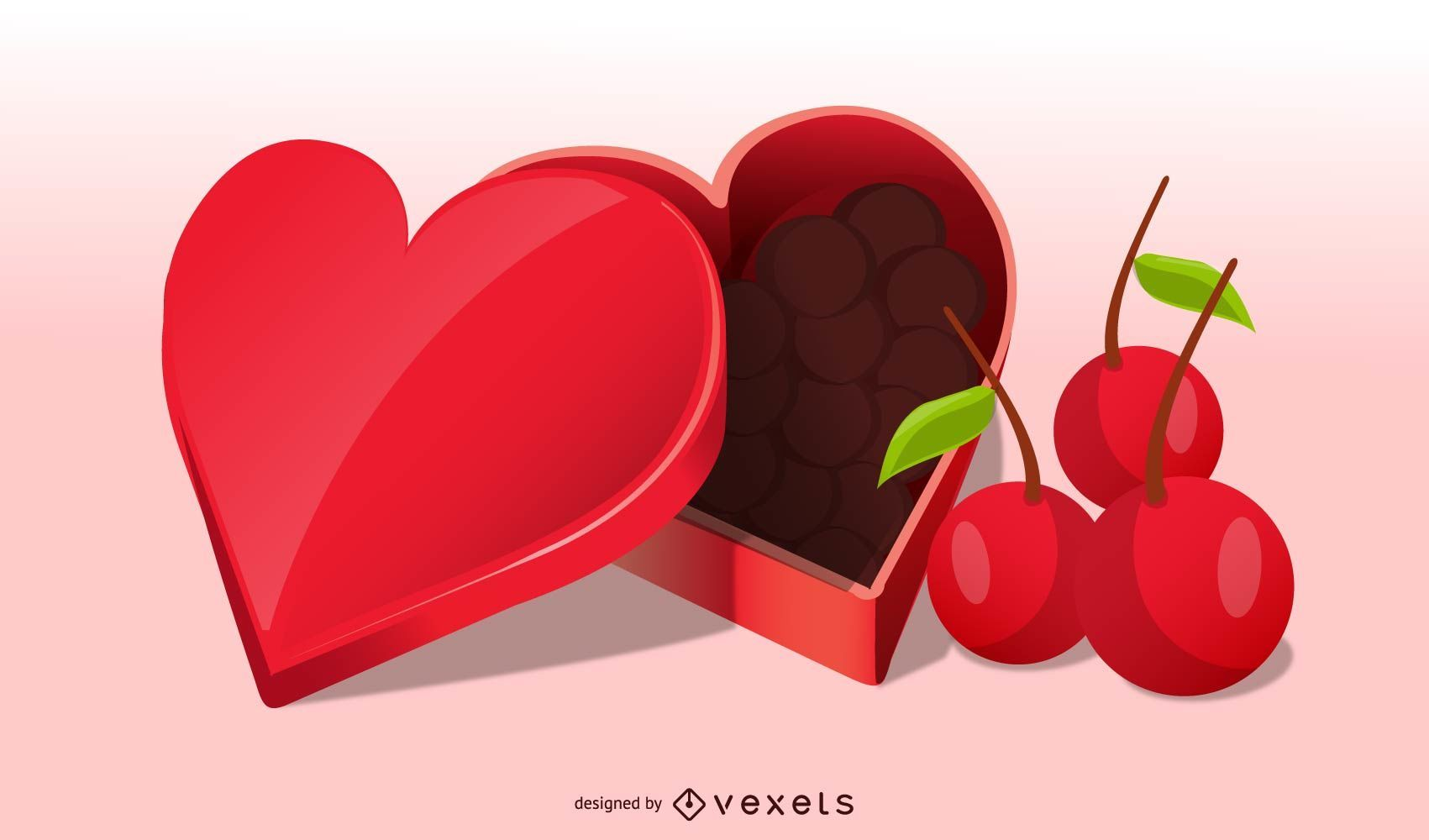 Realistic Valentine Candy with Cheery