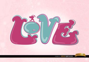 Love cupid pink wallpaper