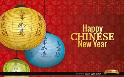 Enfeites de decoração de ano novo chinês