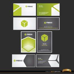 8 plantillas de tarjetas de visita del cubo
