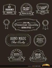 10 pegatinas vintage de cintas y sellos