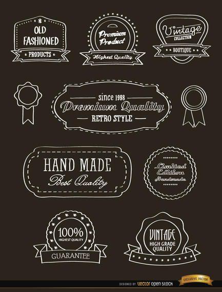 10 Cintas y sellos vintage.