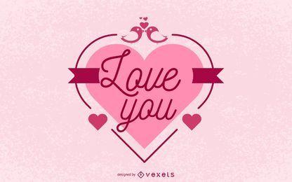 Envoltura de corazón rojo tarjeta de San Valentín
