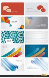 10 tarjetas de visita abstractas modernas