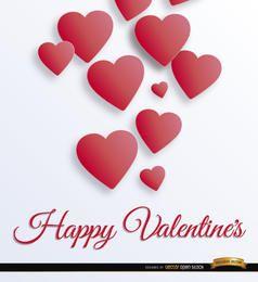 Fondo de corazones flotantes de San Valentín