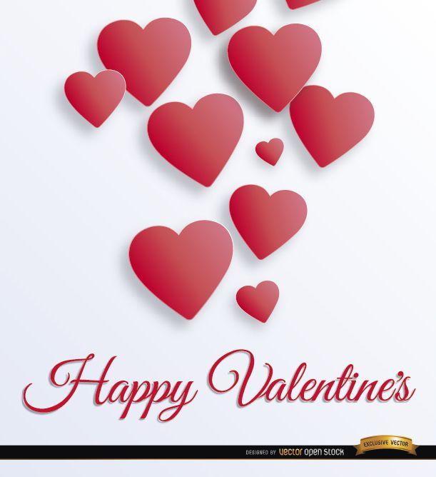 Valentine?s floating hearts background