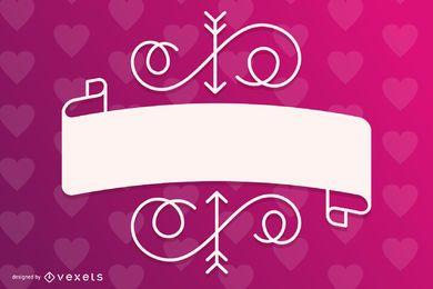 Plantilla de tarjeta de regalo de San Valentín con estilo