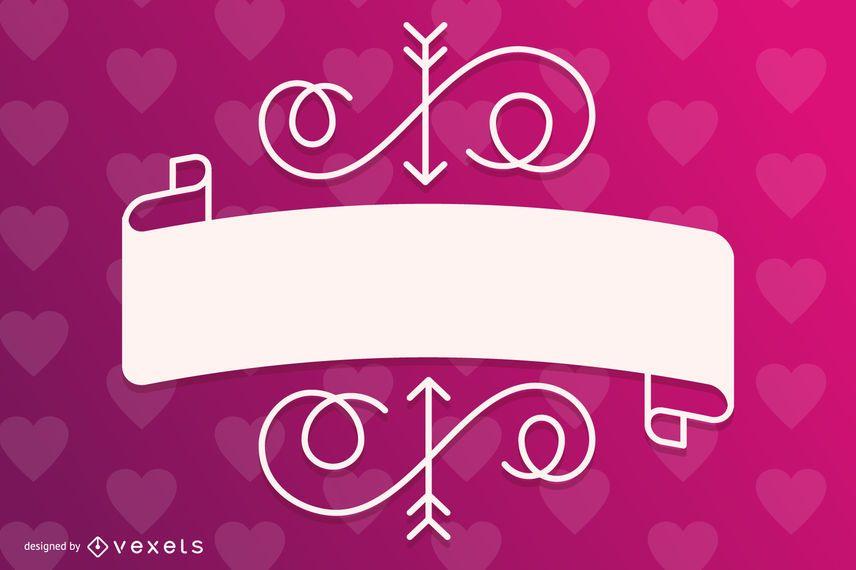 Stylish Valentine Gift Card Template