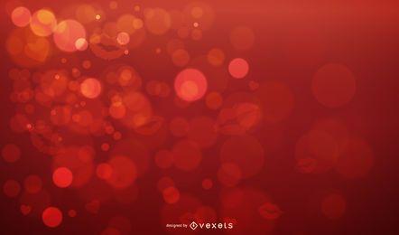 Estampado de labios con burbujas brillantes Fondo de San Valentín