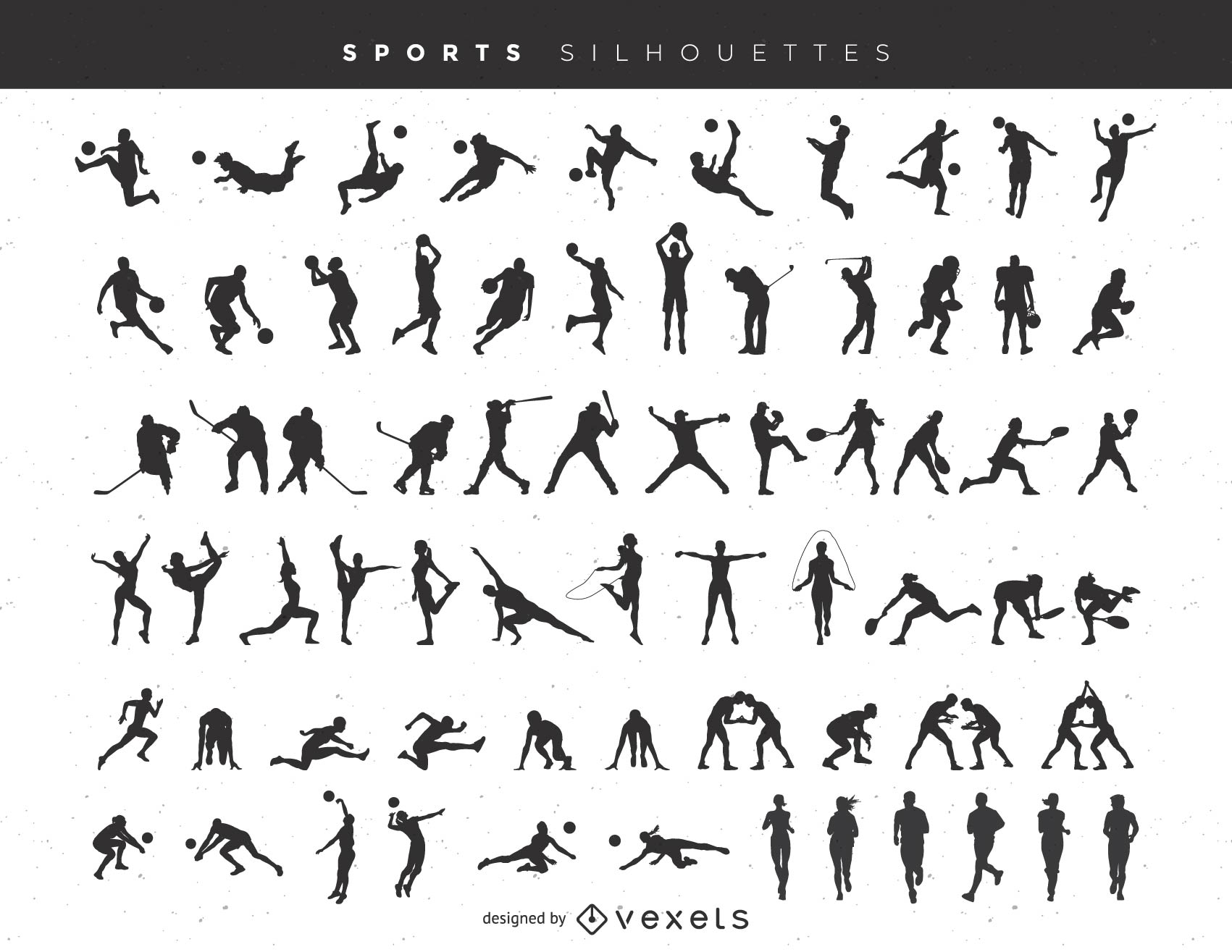 Sports Silhouette Mega Pack
