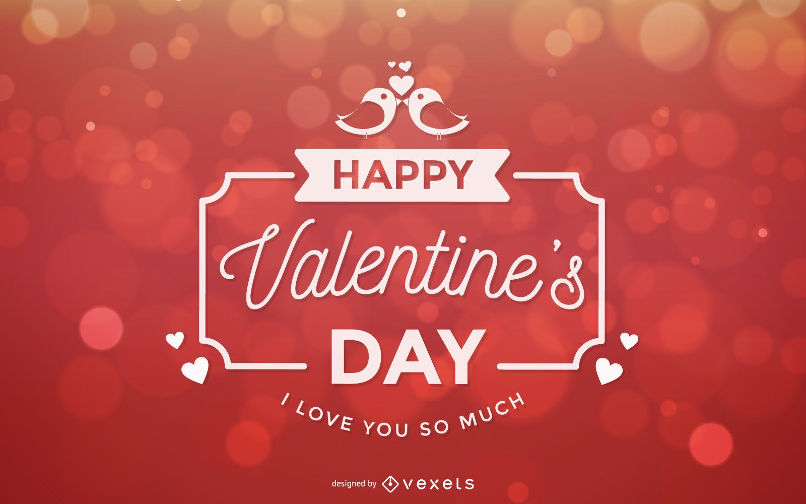 Bokeh Light Decorative Typography Valentine Card