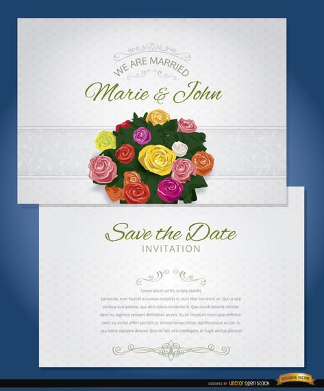 Bunch flowers marriage invitation sleeve