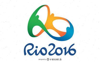 Olympischer Logo-Vektor von Rio 2016
