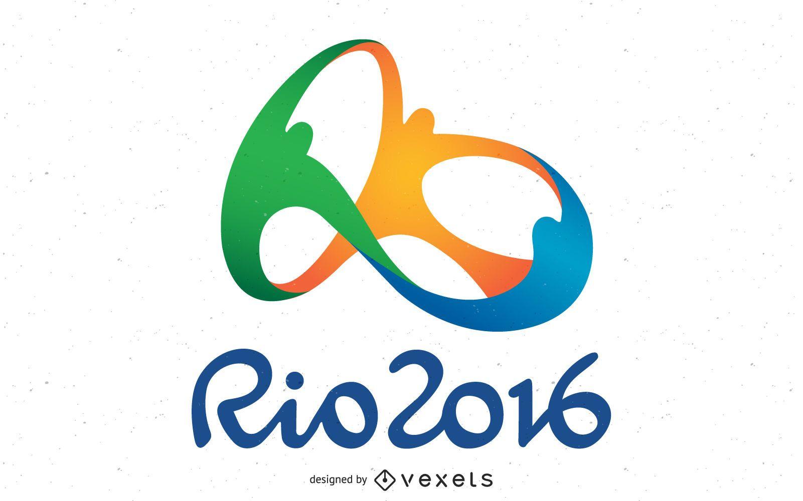 Vetor do logotipo olímpico do Rio 2016