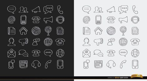 Stroke Communications internet icons