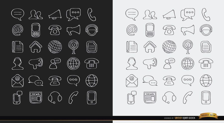 Stroke Communications iconos de internet