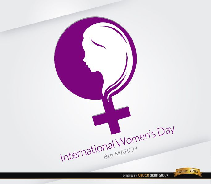 women�s day symbol design vector download