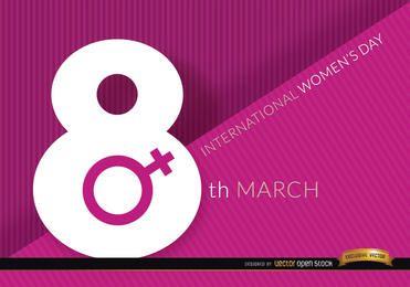 Fondo del día de la mujer del 8 de marzo.