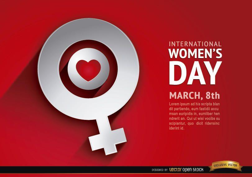Women?s day love female symbol background