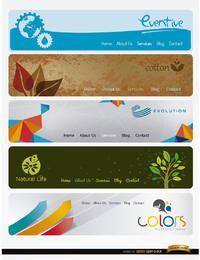 5 encabezados de página web modernos con menú